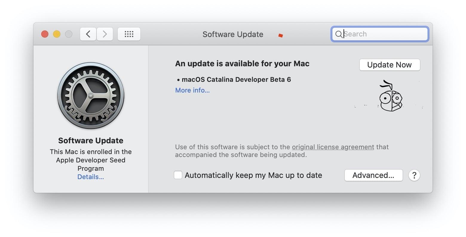 Macos Catalinq 10.15 Developer Beta 6
