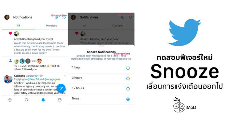 Twitter Testing New Feature Snooze Notification