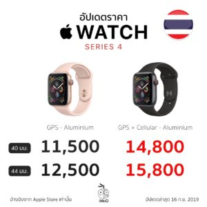 Apple Watch Series 4 Price Aluminium
