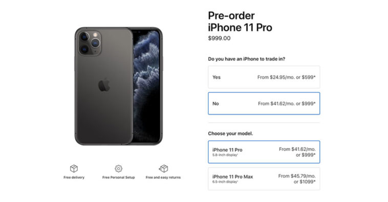 Apple Open Pre Order Iphone 11 Iphone 11 Pro First Tier Country