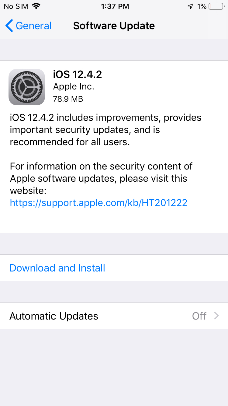 Ios 12 4 2 Released Img 1