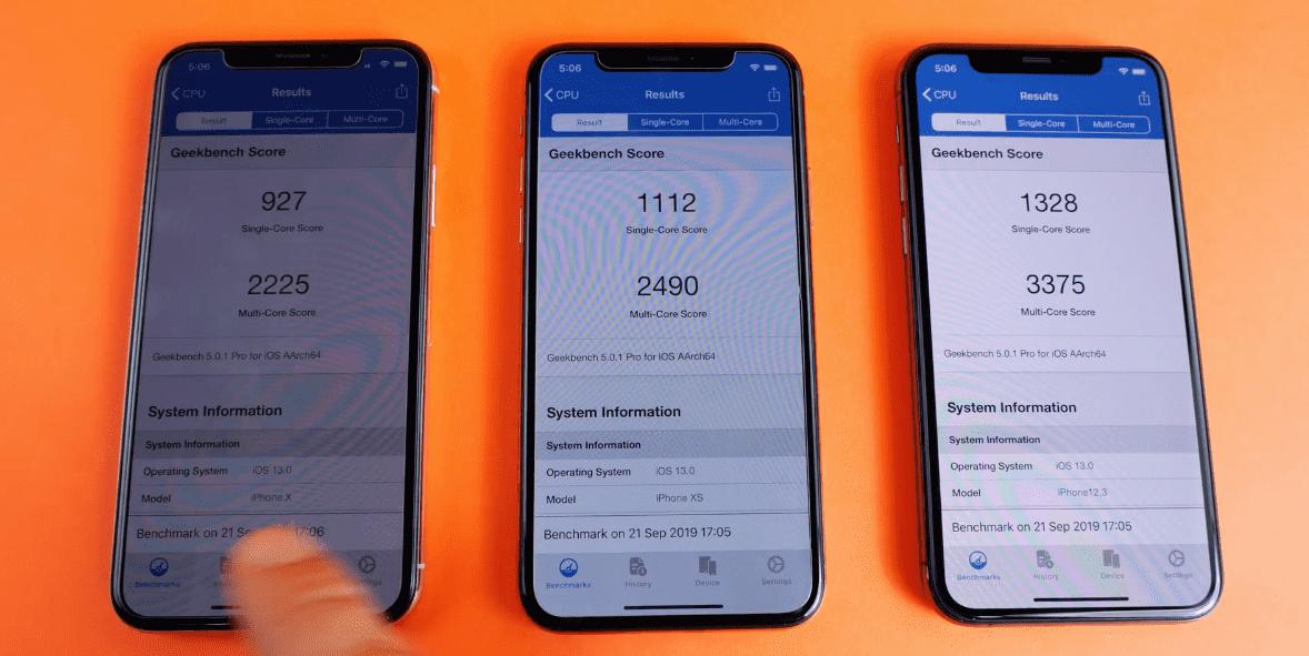 Iphone X Iphone Xs Iphone 11 Pro Speed Test Everythingapplepro Img 14