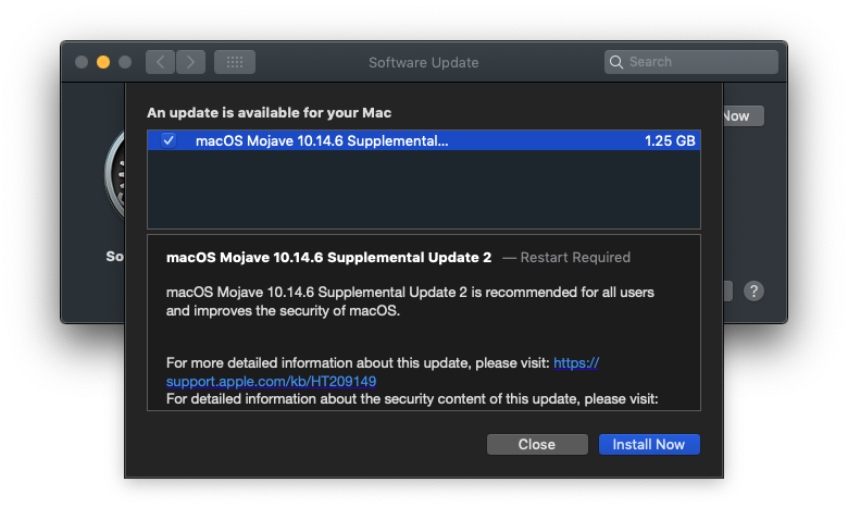 Macos 10 14 6 Supplemental Update For Mac Late Sept 2019 Img 2