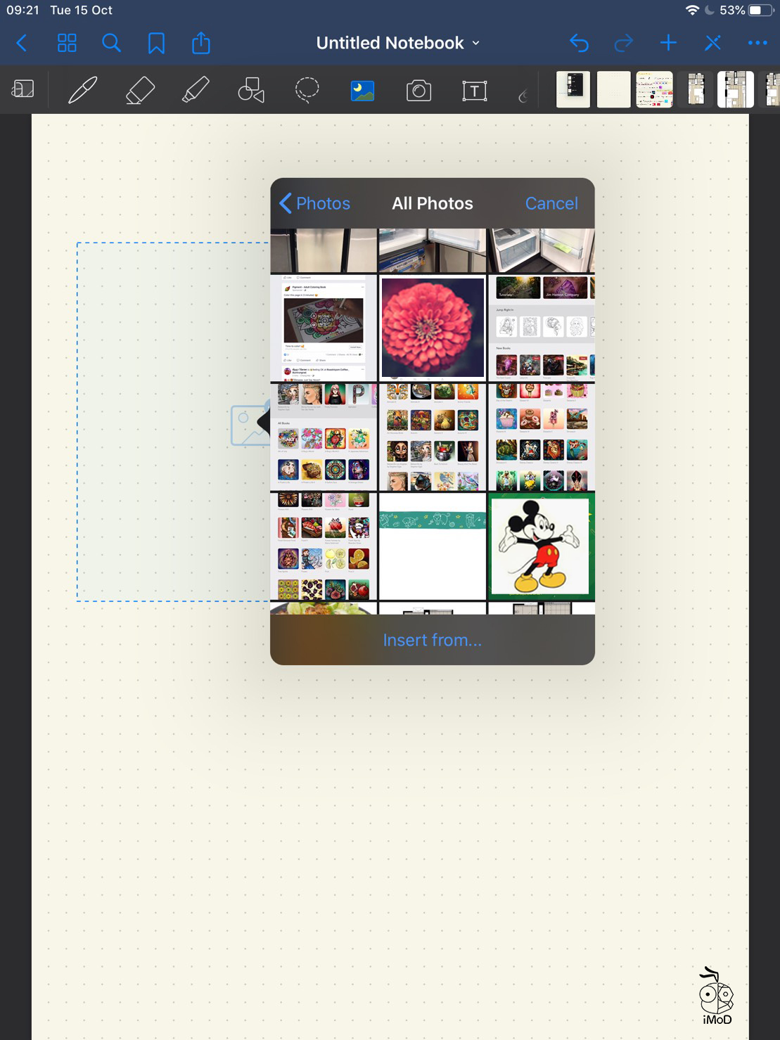 03 How To Quick Import Image Goodnotes 5