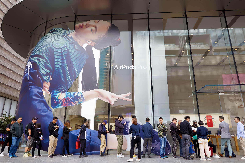 Apple Airpod Pro Launch Shanghai Outside Line 10302019