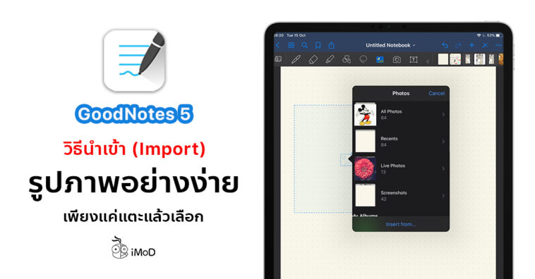 Cover How To Quick Import Image Goodnotes 5