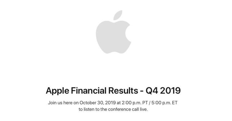 Apple Earnings Release Q4 2019 Date