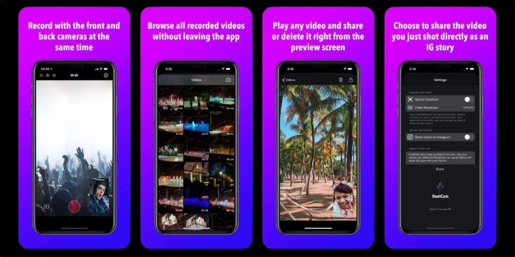 Duetcam New App Support Record Video By 2 Camera 1
