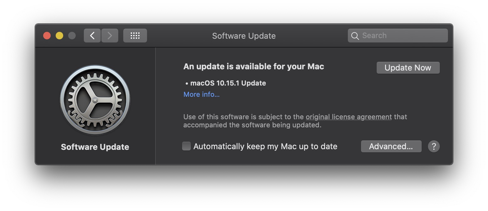 Macos Catalina 10 15 1 Released Img 1