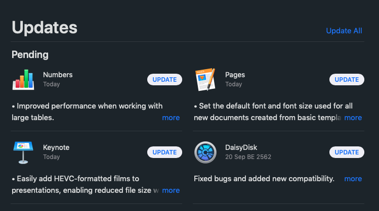 Numbers Pages Keynote Update For Mac 1 Oct 2019 Img 1
