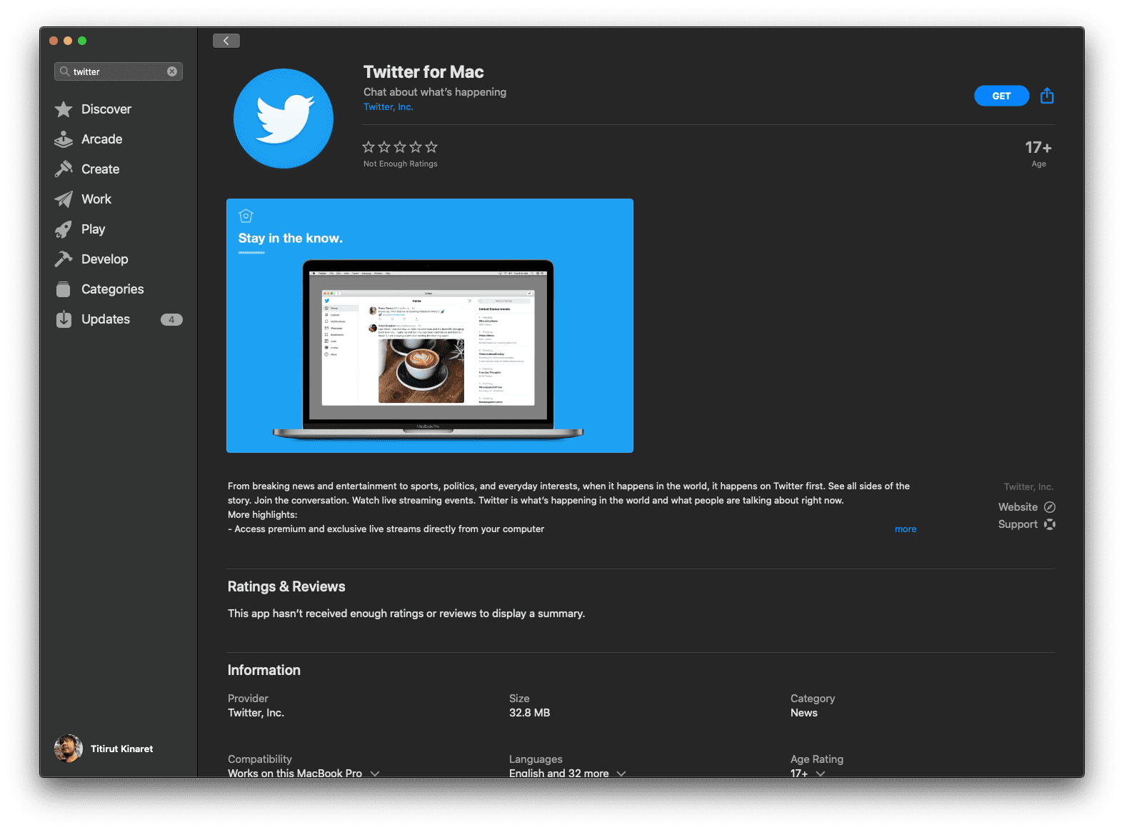 Twitter For Macos Catalina Released Mac Appstore Img 1