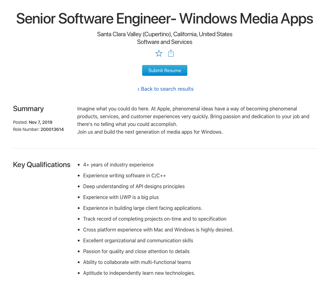 Apple Recruit Team For Next Generation Media Apps Windows Img 1