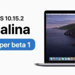 Apple Released Macos Catalina 10 15 2 Developer Beta 1
