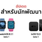 Apple Released Watchos 6 1 1 Beta 1 Tvos 13 3 Beta 1 Developer