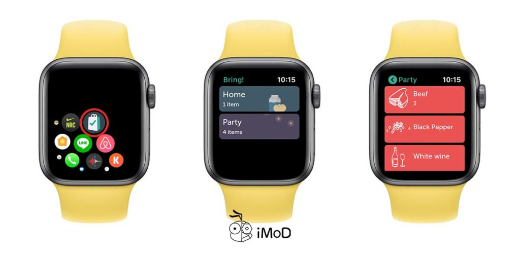 Bring App Buy List For Apple Watch Preview 5
