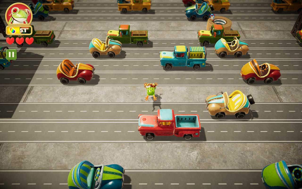 Frogger In Toy Town Apple Arcade 1