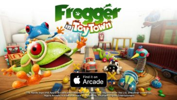Frogger In Toy Town Apple Arcade Cover