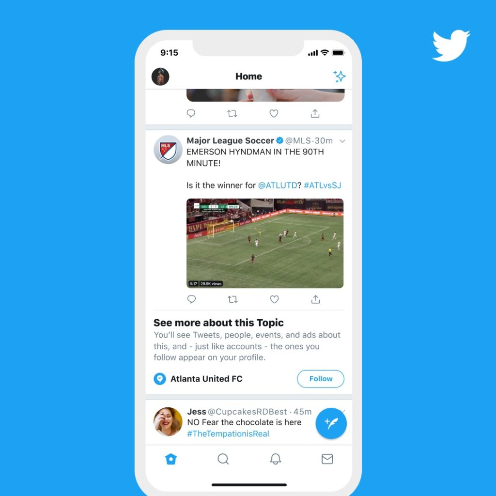 Twitter Debut Topic New Feature Feed Interesting To User 1