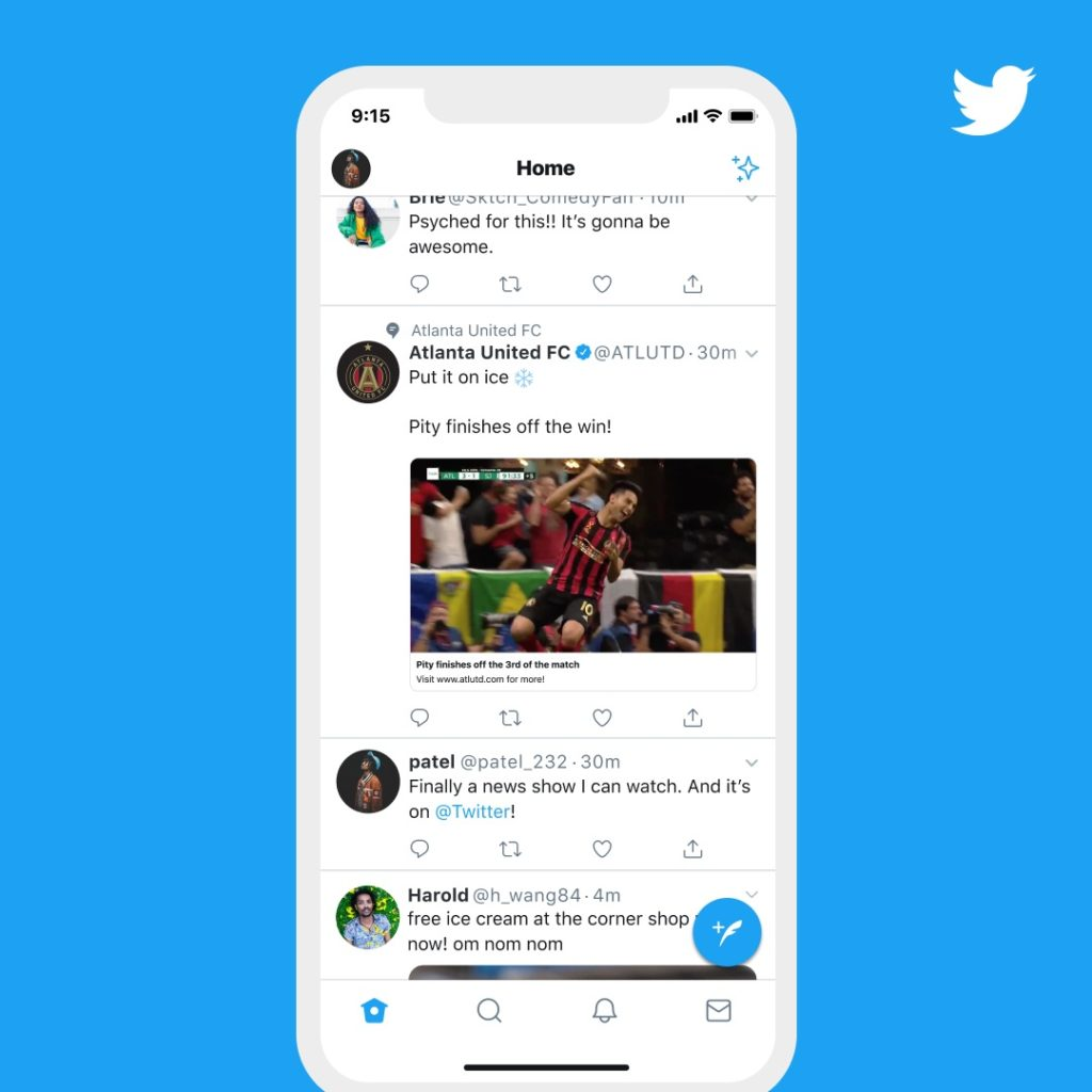 Twitter Debut Topic New Feature Feed Interesting To User 3