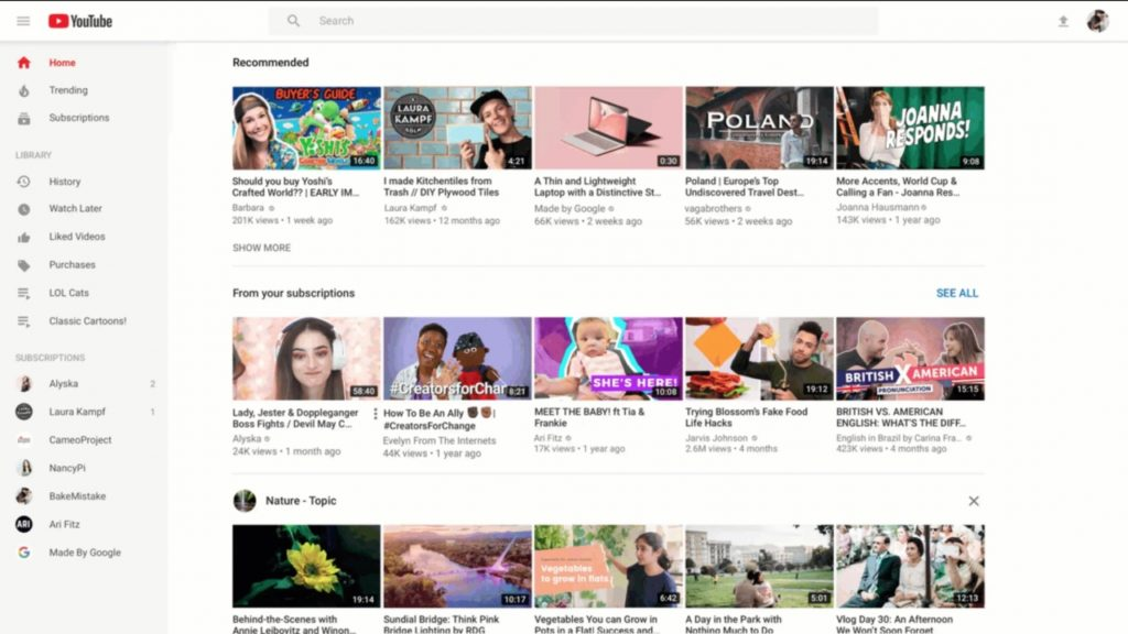Youtube Improve New Design And New Feature For Desktop Tablet 2
