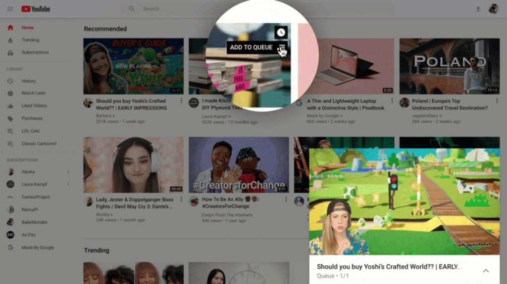 Youtube Improve New Design And New Feature For Desktop Tablet 3
