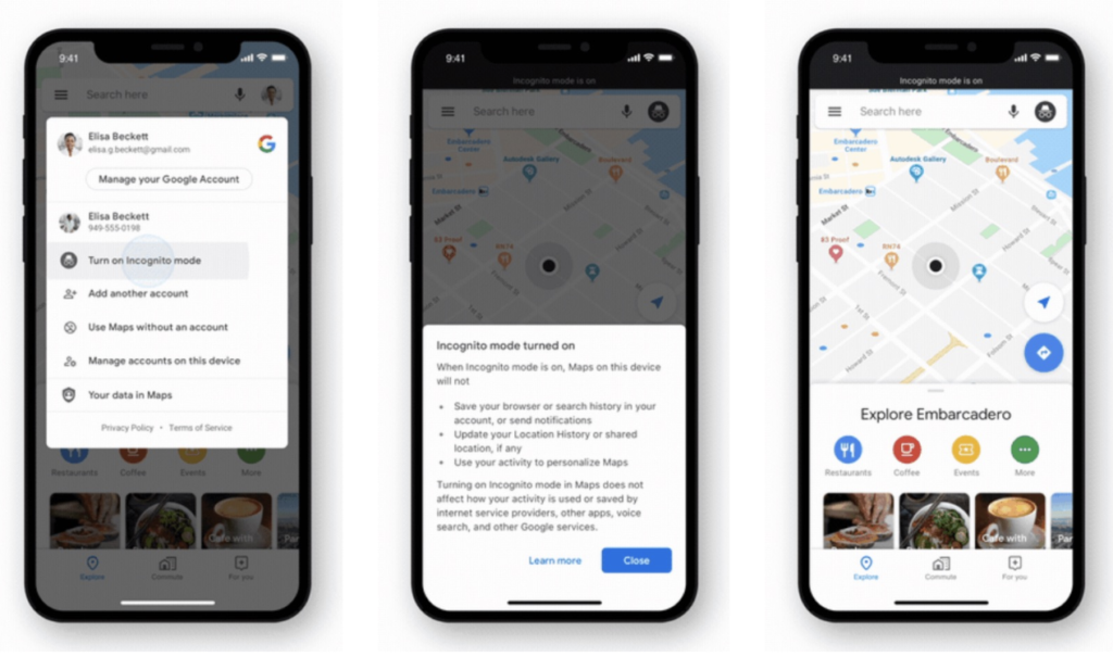 Google Maps Update Version 5 32 With Incognito Mode 1