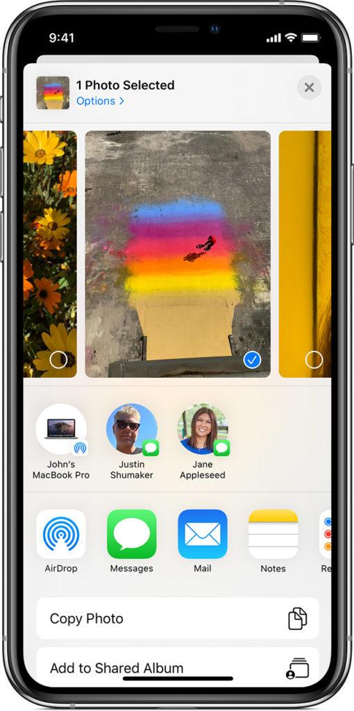 Ios13 Iphone Xs Photos Share Airdrop