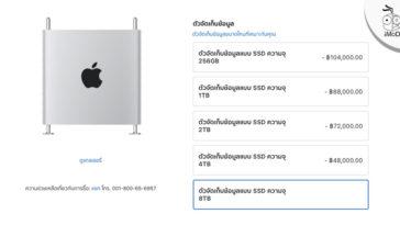 Mac Pro 2019 8tb Option