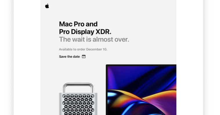 Mac Pro First Release 10 Dec 2019