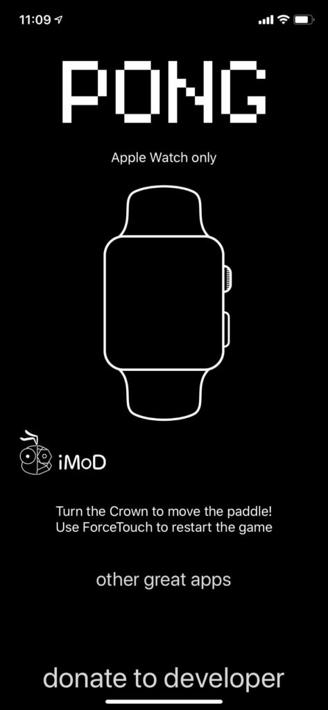Pong Kill Time Game For Apple Watch 3