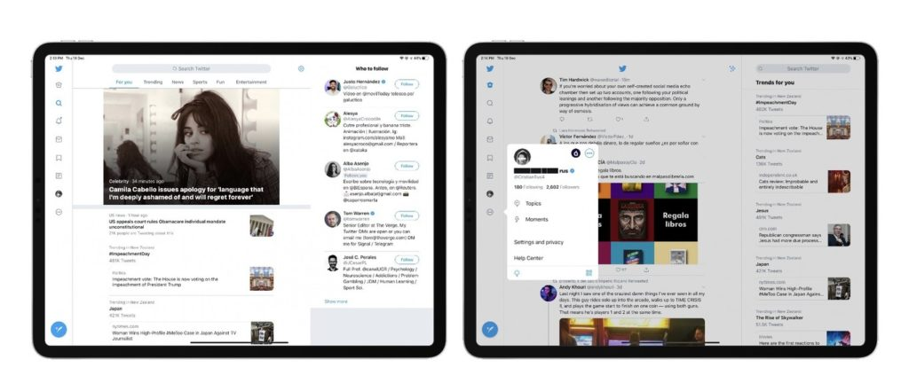 Twitter Update Redesign Many Column For Ipad 1