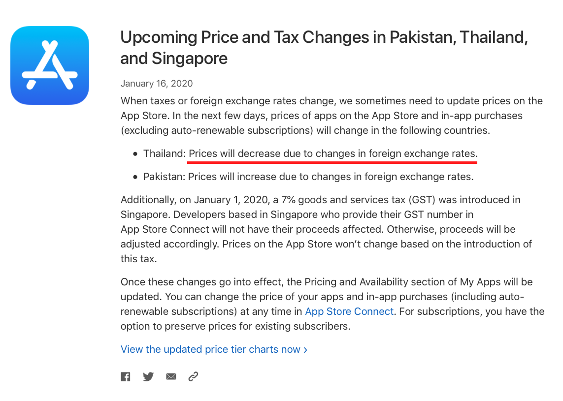 Apple Announces App Store Price And Tax Changes For Thailand Img 1