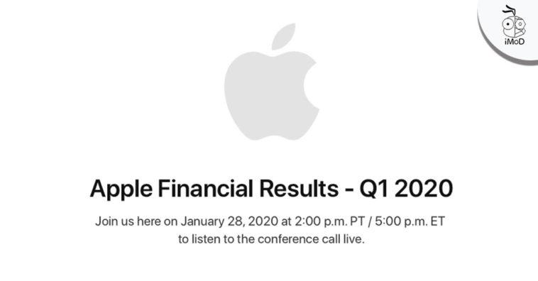 Apple Earnings Release Q1 2020 Date