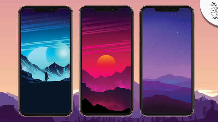Iphone Wallpaper Colorful Vector Landscape