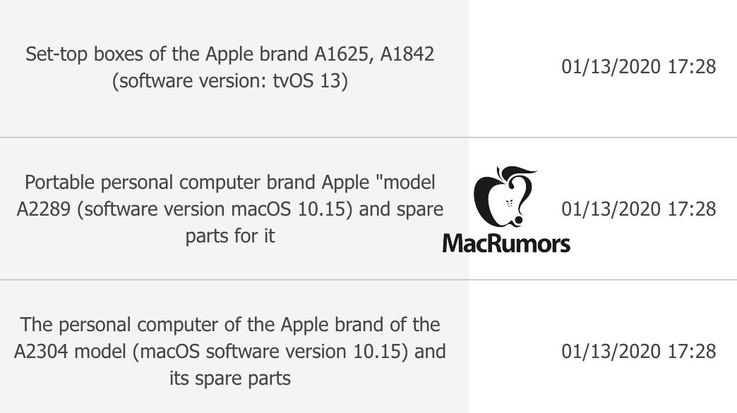 Macbook Eec Database Maybe Macbook Pro 13 Inch Magic Keyboard Img 1