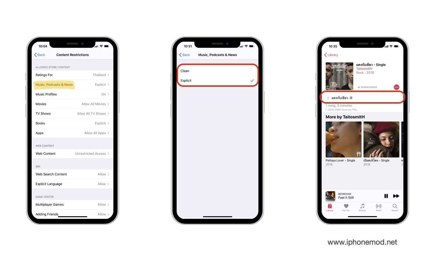 Setting Allow Explicit Music In Ios 13 02
