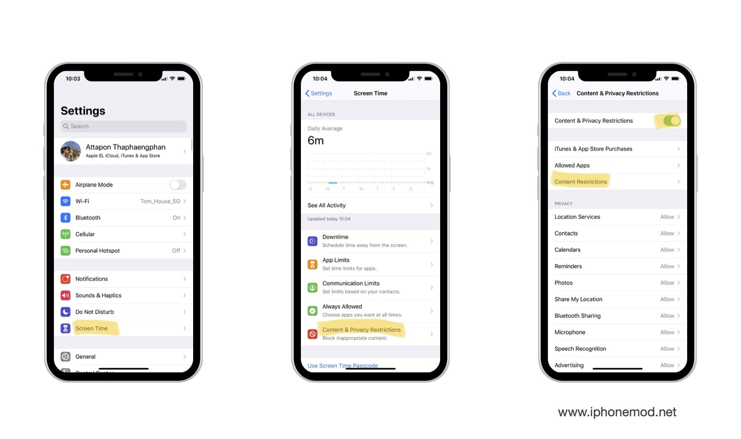 Setting Allow Explicit Music In Ios 13