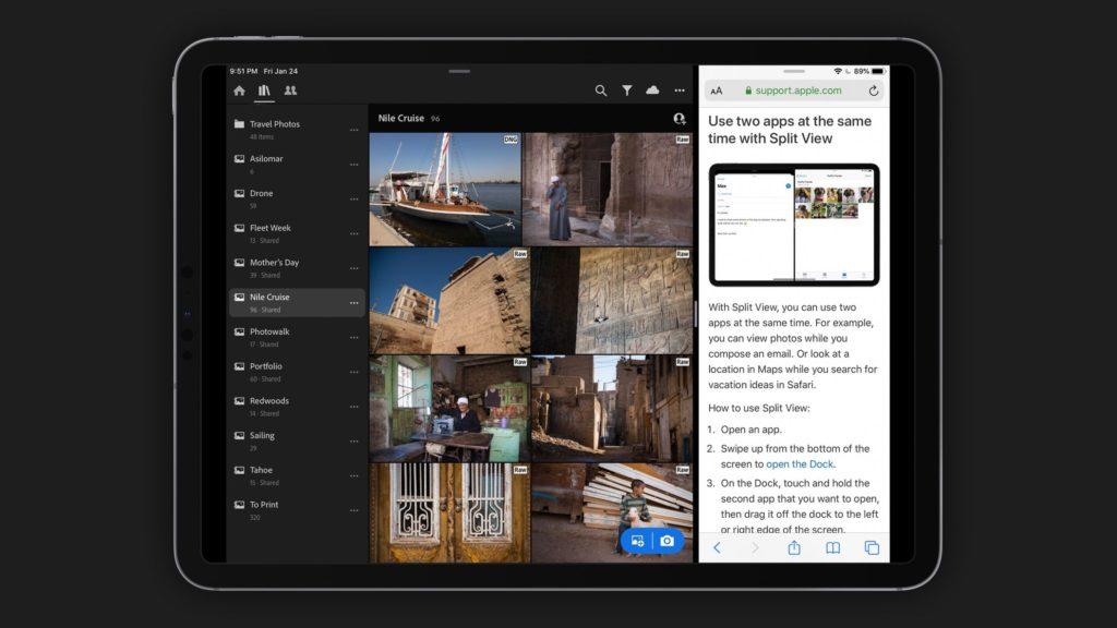 Adobe Lightroom Release Version 5 2 Update Split View Ipad 1