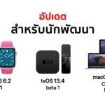 Apple Released Watchos 6 2 Tvos 13 4 Macos 10 15 4 Developer Beta 1
