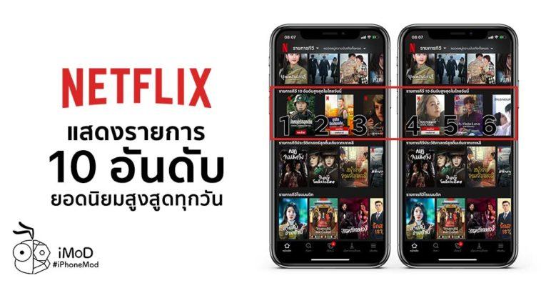 Netflix New Feature List 10 Top Popular