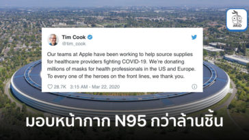 Apple Donating Millions N95 Mask Eu Us