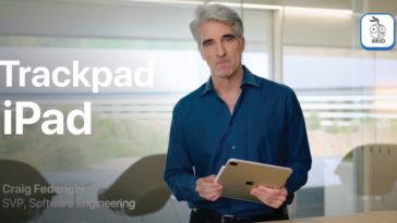 Craig Federighi Demo Trackpad Ipad Pro With Magic Keyboard