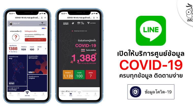 Line Released Covid 19 Info Hup Thailand