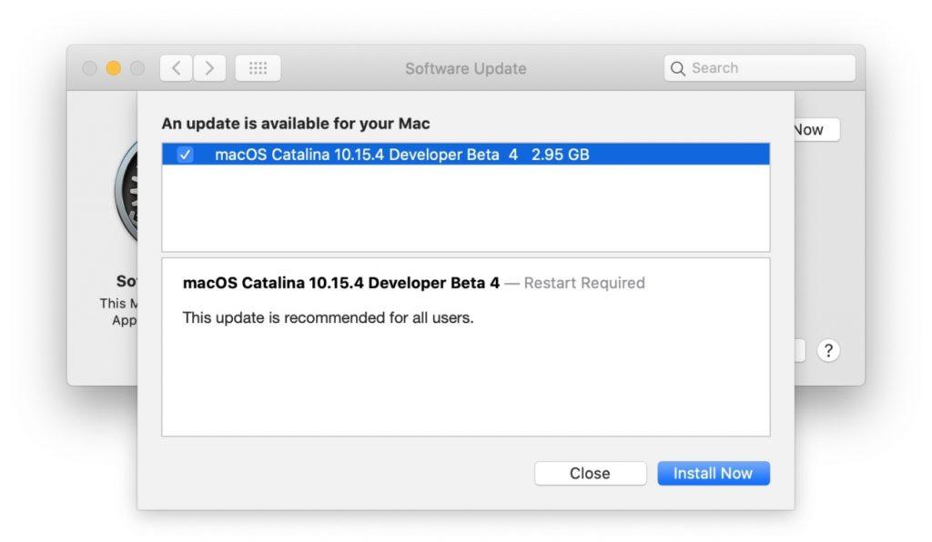 Macos Catalina 10 15 4 Developer Beta 4