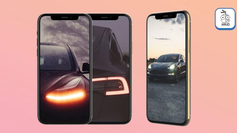 Tesla Model 3 Iphone Wallpaper